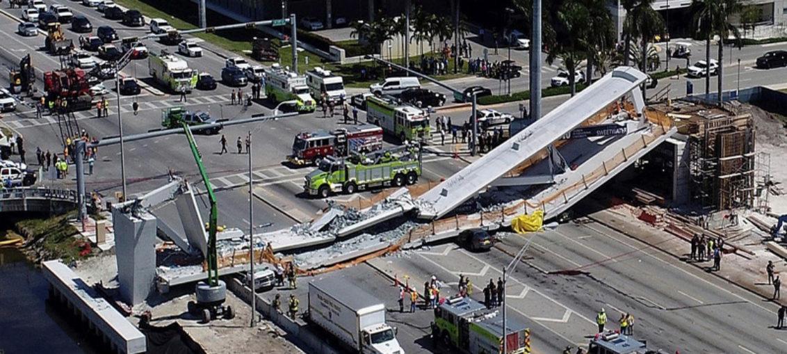 Puente peatonal de la FIU se derrumbó por errores en el diseño