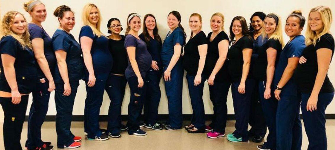 Dieciséis enfermeras embarazadas al mismo tiempo