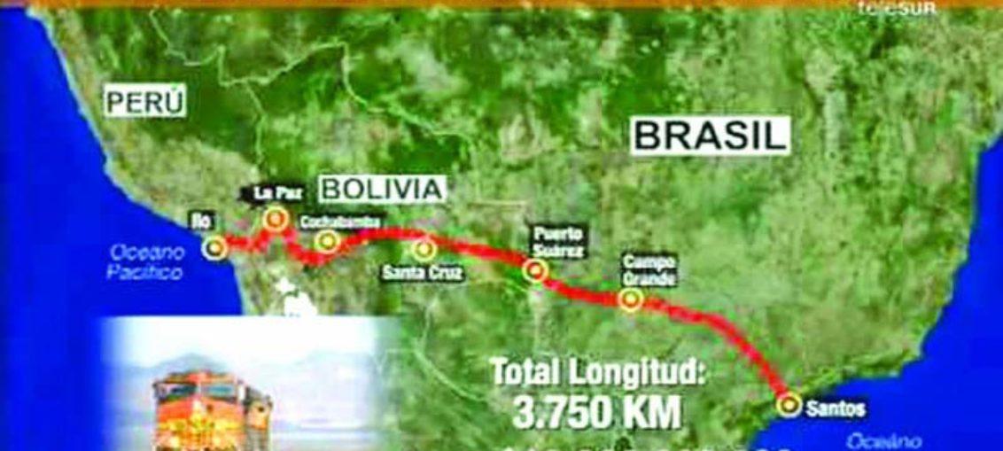 Construirán tren bioceánico boliviano