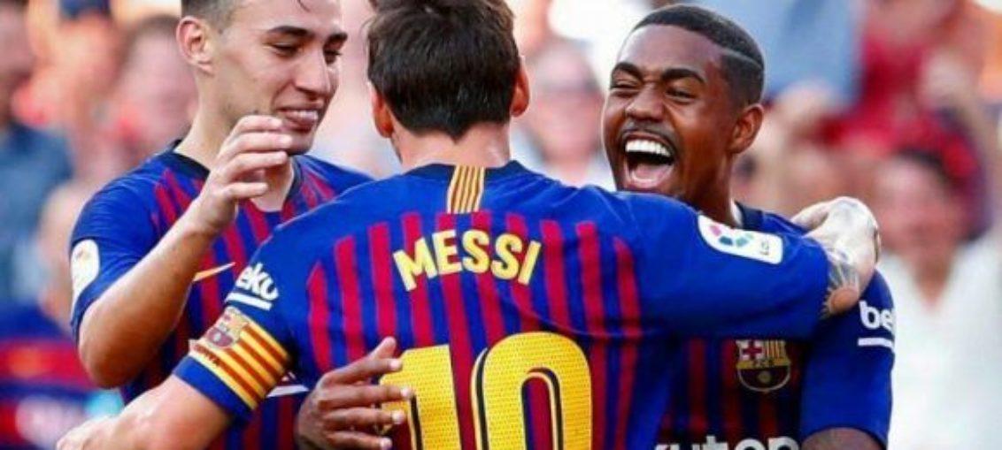 Barcelona arrolla al Huesca y alcanza el liderato