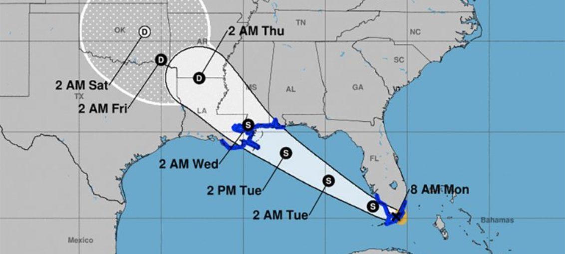 Gordon azota a Florida con fuertes lluvias