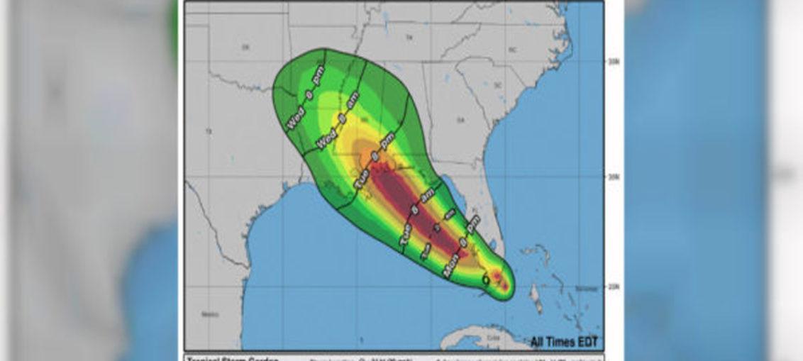 Gordon llega como huracán a costa central del Golfo