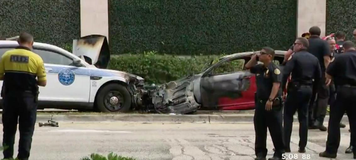 Heridos tras espectacular persecución policial en Miami