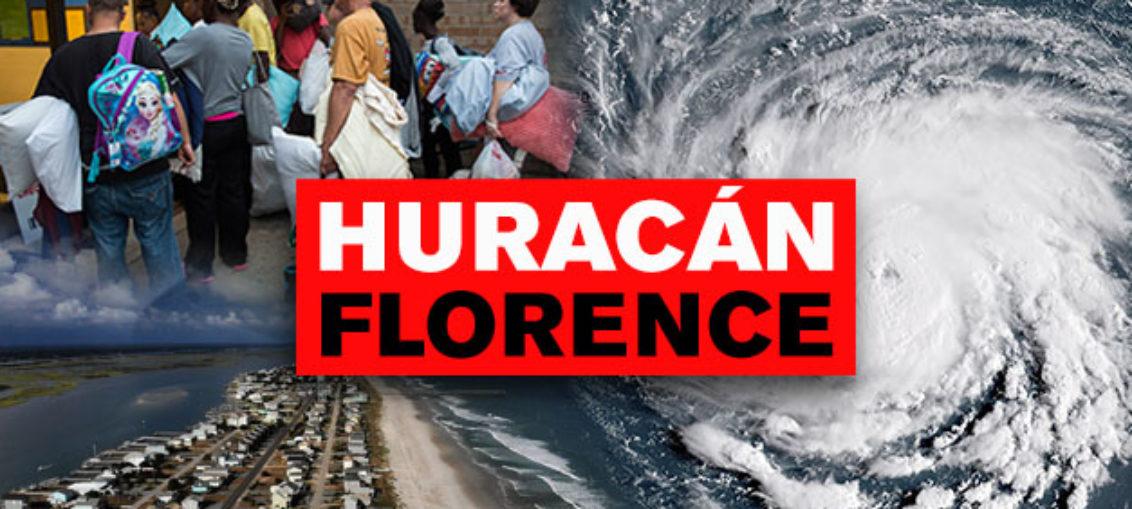 Monstruoso huracán Florence se acerca a EE.UU.