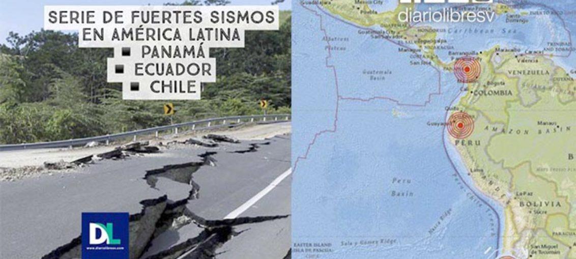 Cadena de sismos sacude el Pacífico de América