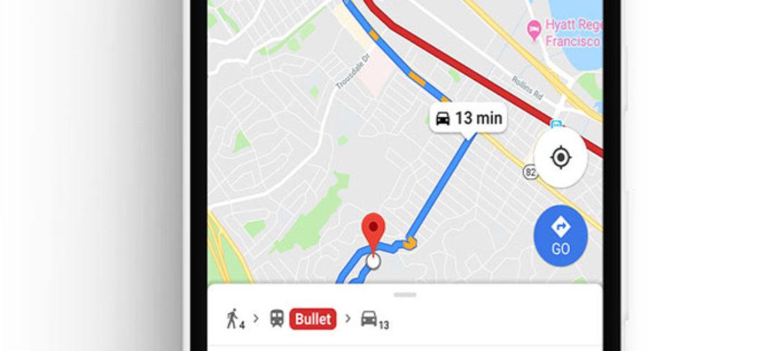 Google Maps actualización de rutas en tiempo real