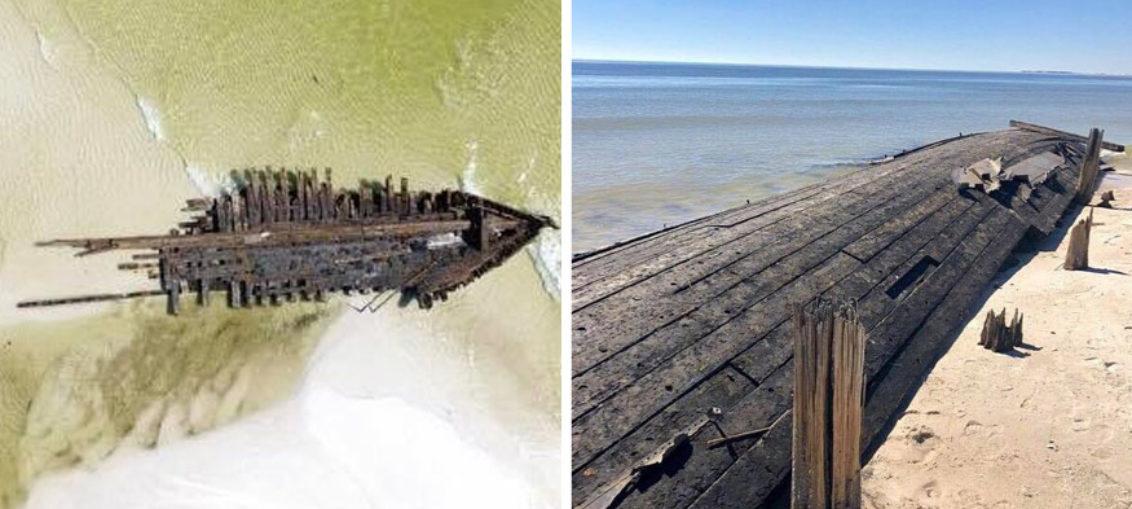 Huracán Michael descubre barcos hundidos en 1899