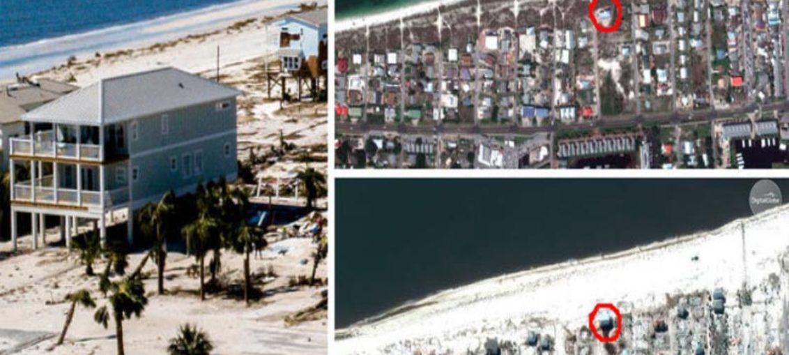 La casa que sobrevivió al huracán Michael en México Beach